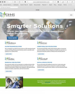 Website developed for Dental Healthcare Management Solutions.
