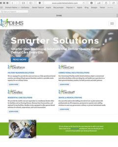 Website developed for Dental Healthcare Management Solutions.