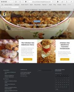 Scholars Inn Bakehouse website designed by EwingWorks.com and ShockHog.com